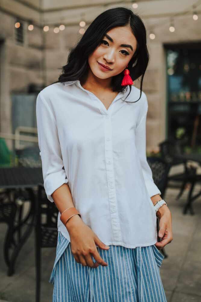 Not At Work Button Up Blouse