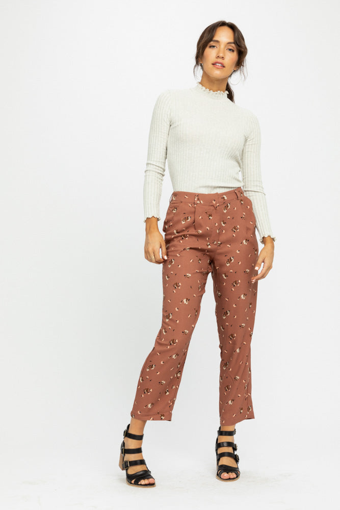 Flowers in Dust Highwaist Pants
