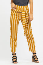 Lilou Knotted Stripe Pants in Mustard-FINAL SALE - Bohme