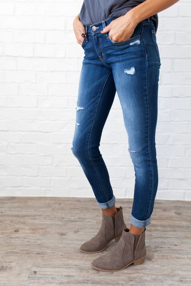 In the Moment Distressed Skinny Jeans