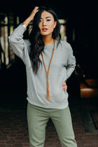 Warming Trend Knit Sweater in Grey - Bohme