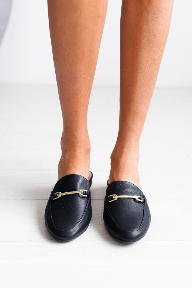 Pretty Woman Black Slip On Loafers