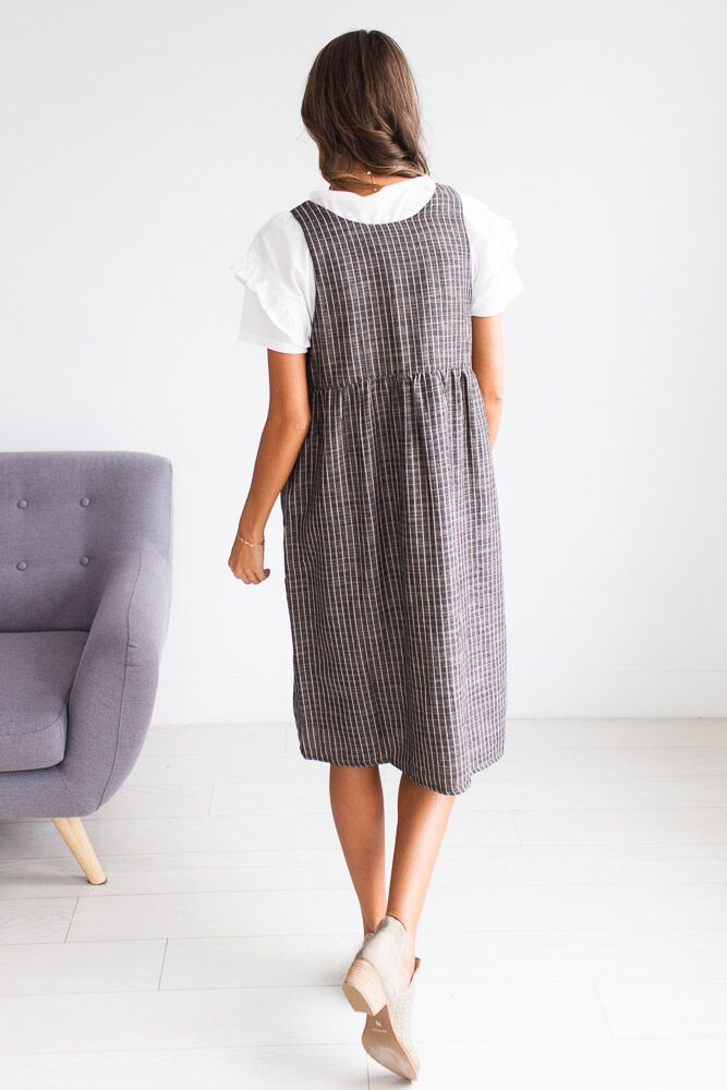 The Chandler Grey Pin Striped Dress