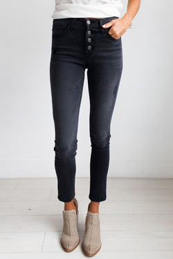 All Purpose Dark Grey Skinny Jeans