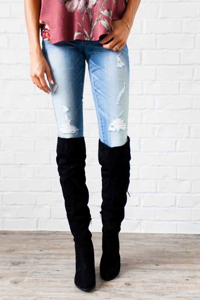 Complete Me Suede Over the Knee Boots