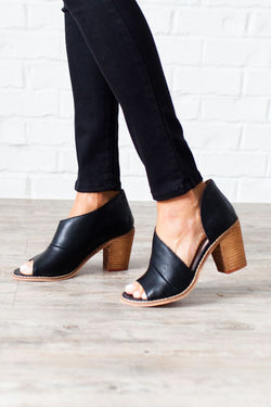 All the Answers Vegan Leather Heels