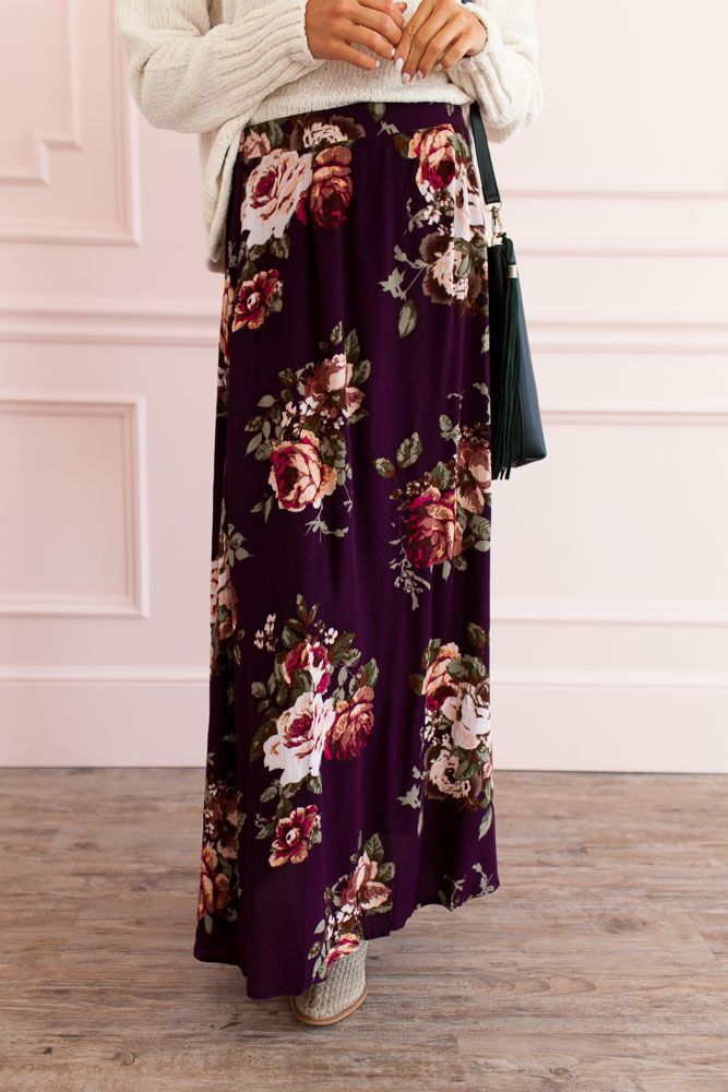 Live For Today Floral Print Maxi Skirt- FINAL SALE