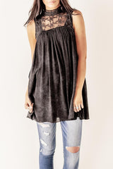 Flowy Lace Panel Tunic
