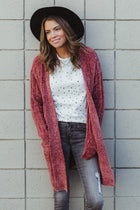 Be Mine Rust Chenille Cardigan