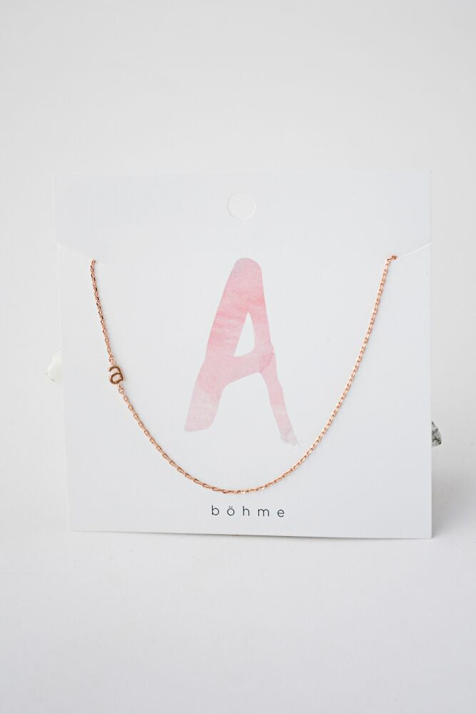 Modern Addition Initial Necklace