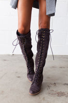 Compliments All Around Lace Up Knee High Boots