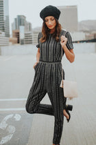 Jojo Black Striped Jumpsuit