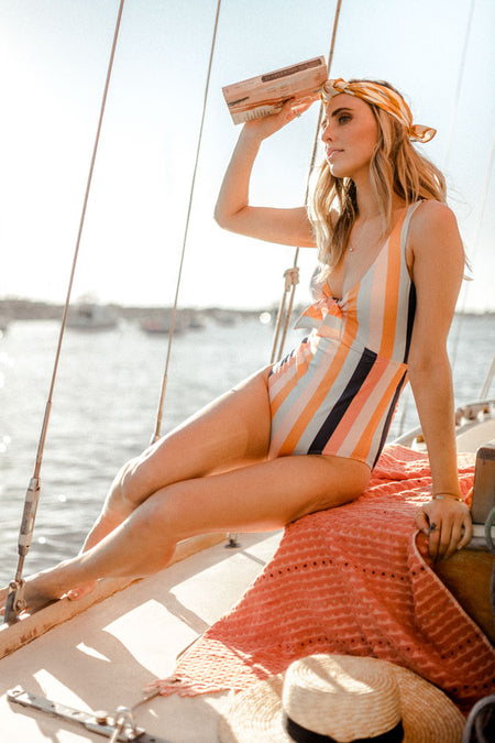 Knot Over It Striped One-Piece