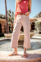 Flying Monkey Devon Wide Leg Denim In Rose bohme