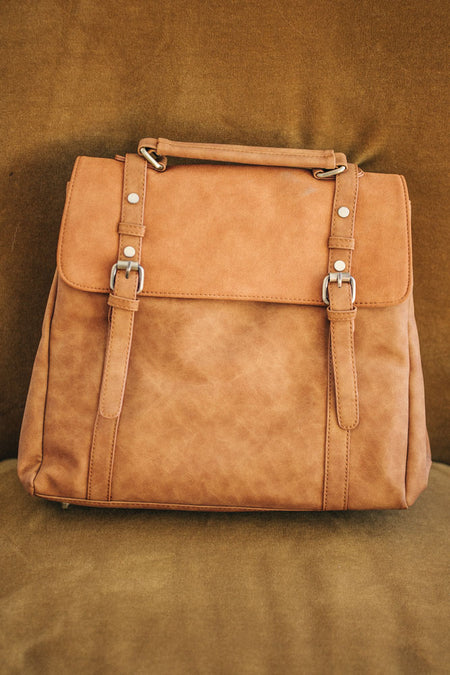 Briefcase Backpack in Camel