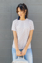 Blush Modern Print Top - Bohme