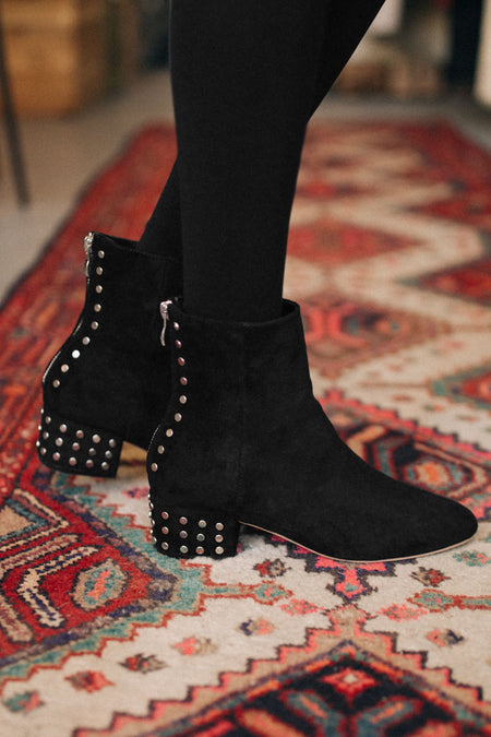 Jorie Studded Block Heel Bootie-FINAL SALE