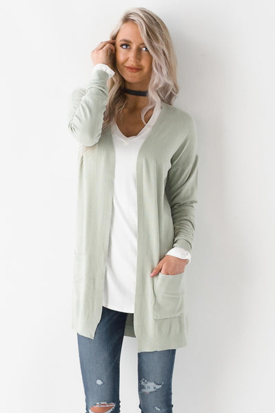 About Pastels Lightweight Knit Cardigan