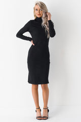 P.S. You Look Stunning Mock Neck Dress