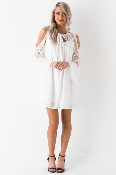 Precious Pearl Lace Detailed Dress