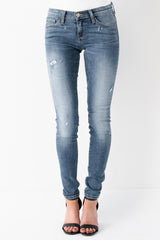 Flying Monkey Washed Ashore Distressed Skinny Jean