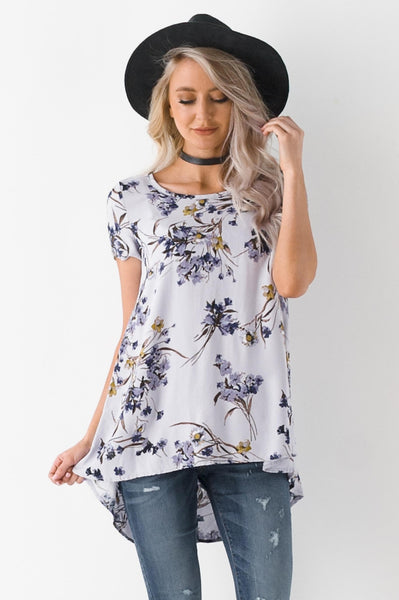 Lilac Fields Woven Floral Top