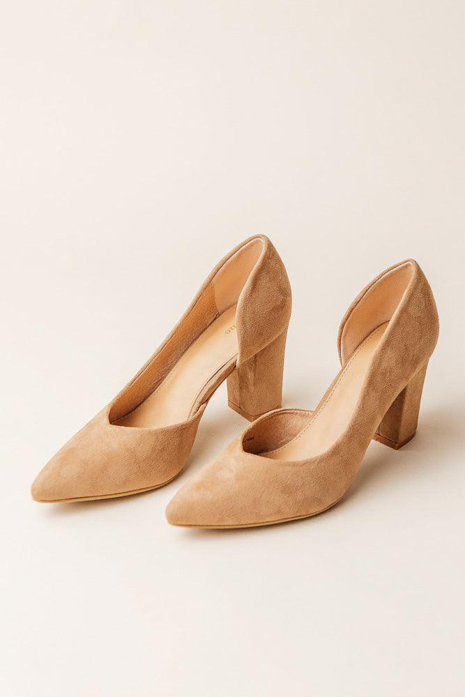 Celeste Open Side Heel in Tan