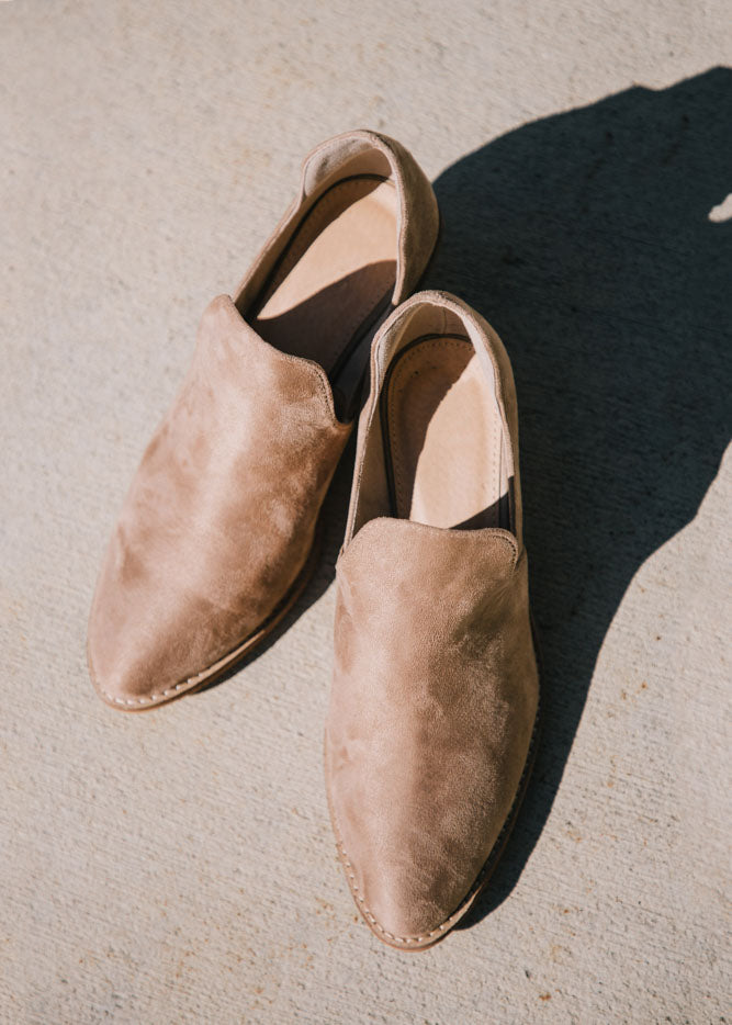 Reveal Booties in Taupe