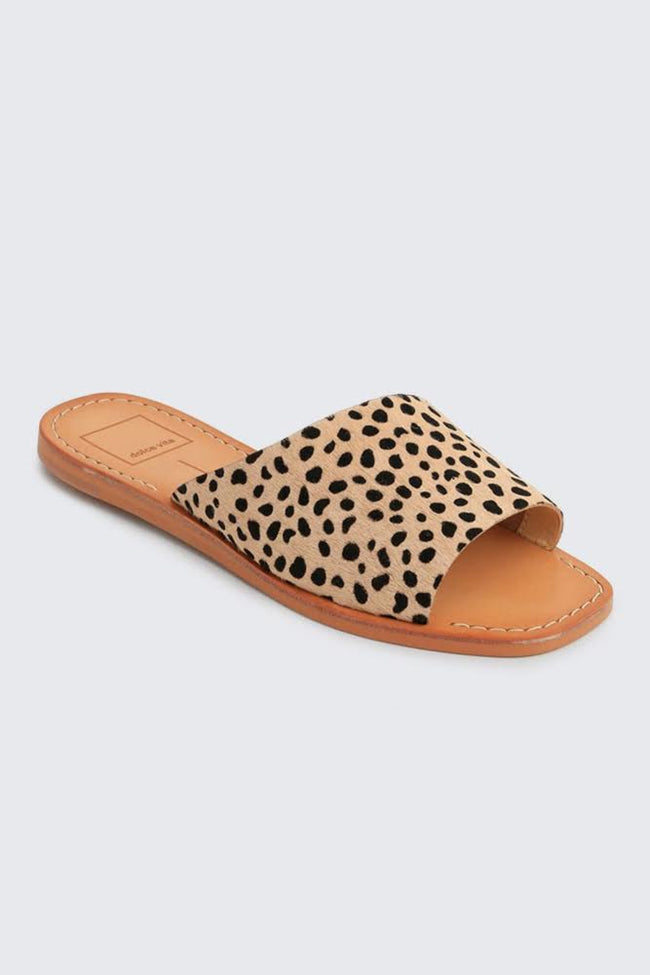 Dolce Vita Cato Leopard Slide On Sandals