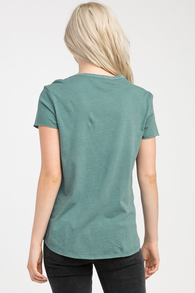 The Balance of Opposites RVCA Graphic Tee in Sage