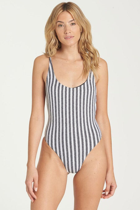 Billabong Shady Lady Striped One-Piece Swimsuit