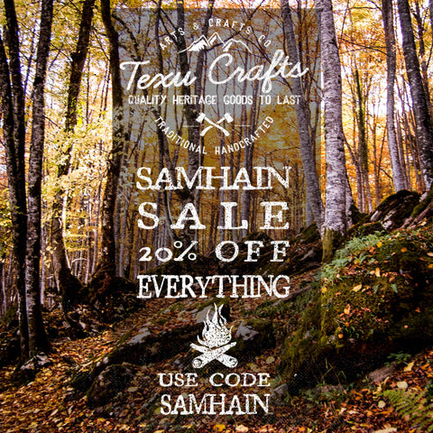 "Samhain Time  To celebrate the festival of Samhain and the coming of winter, I'm offering 20% discount on everything.Up to 6th of november  Use discount code ""SAMHAIN"".   Have a good Winter.  Texu Crafts"