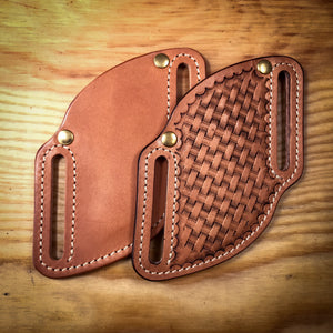 Pancake pocket knife leather sheath