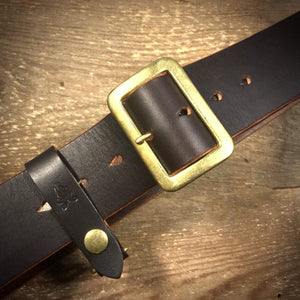 "TexuCrafts Belt Chocolate / 75cm (30"") The Garrison belt 2"""