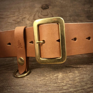 "TexuCrafts Belt Natural / 75cm (30"") The Garrison belt 2"""