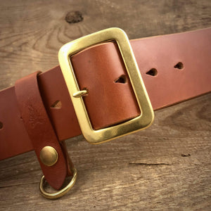 "TexuCrafts Belt Russet / 75cm (30"") The Garrison belt 2"""