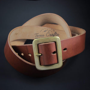"TexuCrafts Belt Natural / 75cm (30"") The Garrison belt 1 1/2"""