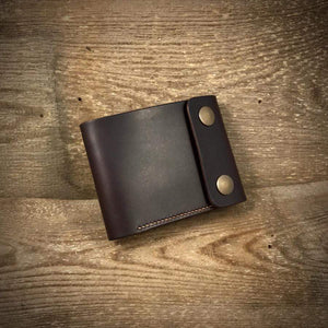 TexuCrafts Bifold Wallet Chocolate / Only Wallet / Right-handed Biker Bifold Wallet with coin pouch