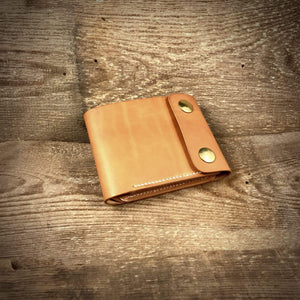 TexuCrafts Bifold Wallet Natural / Only Wallet / Right-handed Biker Bifold Wallet