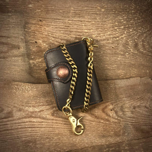 TexuCrafts Safety Wallet Chain Flat Safety Wallet Chain Karabiner