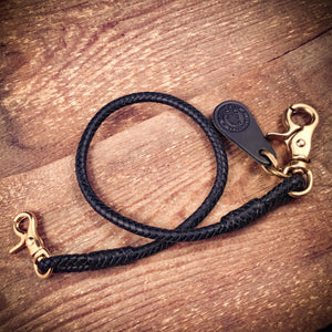 TexuCrafts Wallet Lanyard Kangaroo Leather Braided Wallet lanyard Karabiner.