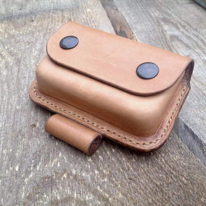TexuCrafts Wilderness Bushcraft Leather pouch for Altoids tin With Fire Steel Loop