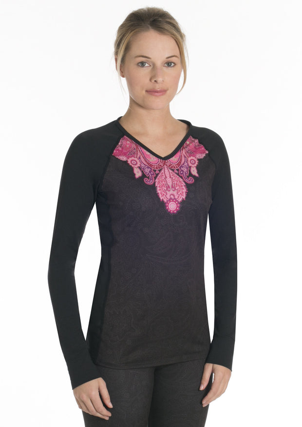 Veluxe Power Paisley V-Neck