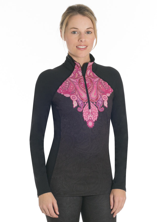 Veluxe Power Paisley Zip-T