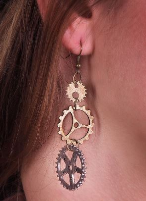 Triple Sprocket Earrings