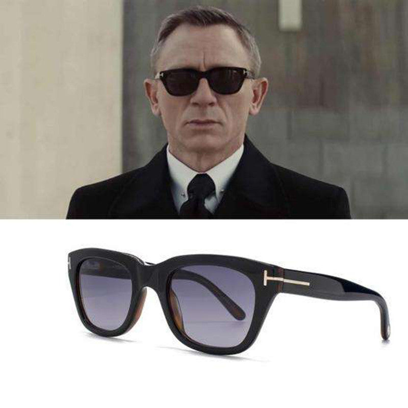 TSHING James Bond Sunglasses TR90 Polarized Sunglasses Men Brand Designer Men's Super Star Square Celebrity Driving Sun Glasses