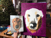LESS detailed: Original Hand Painted, Custom (Your Pet) Single Pet Portrait