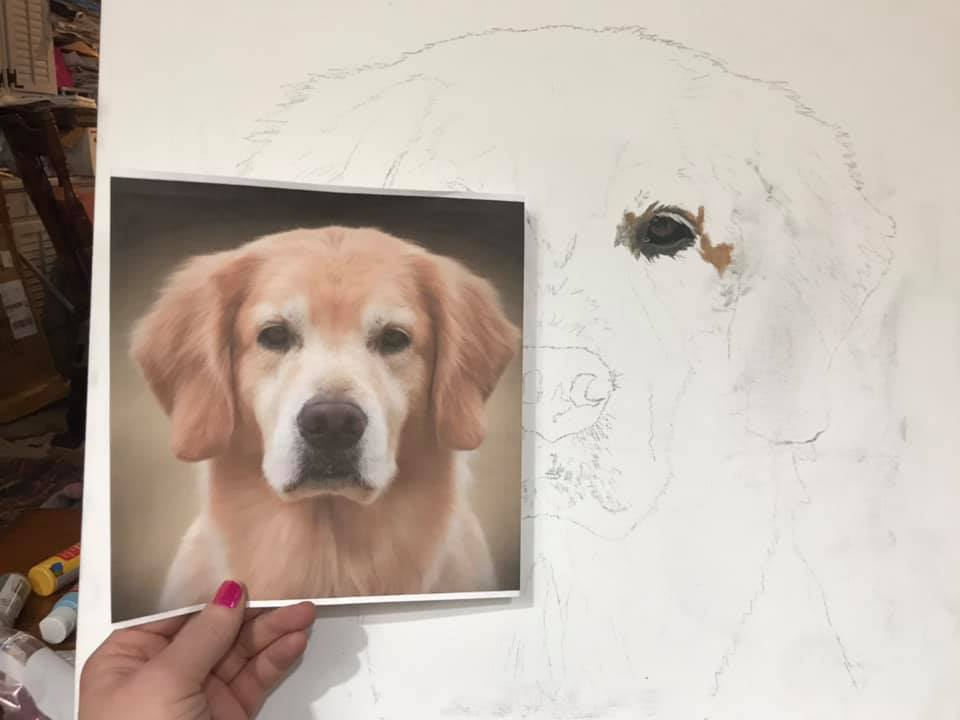 HIGHLY Detailed: Original Hand Painted, Custom (Your Pet) Single Pet Portrait