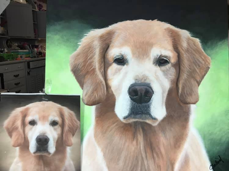 Highly Detailed L1: Original Hand Painted, Custom (Your Pet) Single Pet Portrait