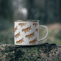 Enamel Campfire Mug Golden Retriever